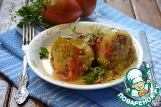 Рецепт: Фаршированные перцы в сливочно-овощном соусе