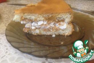 Рецепт: Воздушный торт Сникерс