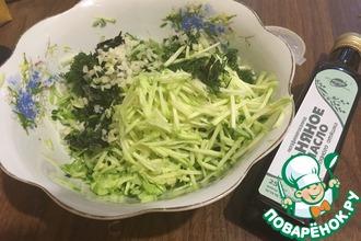 Рецепт: Летний салат из огурцов и кабачков