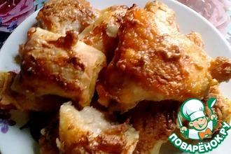 Рецепт: Курица с рулетиками в духовке