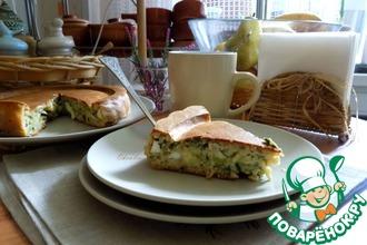 Рецепт: Геркулесовый пирог с брокколи