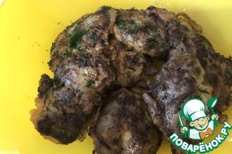 Рецепт: Отбивная из куриной печени