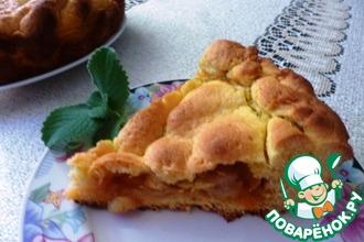 Рецепт: Простой пирог с яблоками и джемом