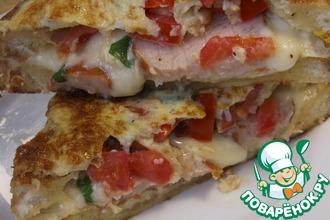 Рецепт: Горячие бутерброды за пять минут