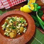 Картофель, запеченный с адыгейским сыром