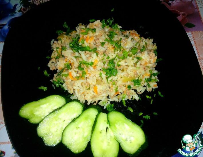 Рецепт: Рис с фаршем и овощами