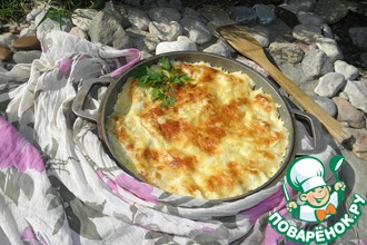 Рецепт: Запеканка из картофельных вареников