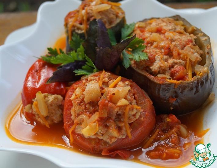 Рецепт: Овощи фаршированные Ассорти