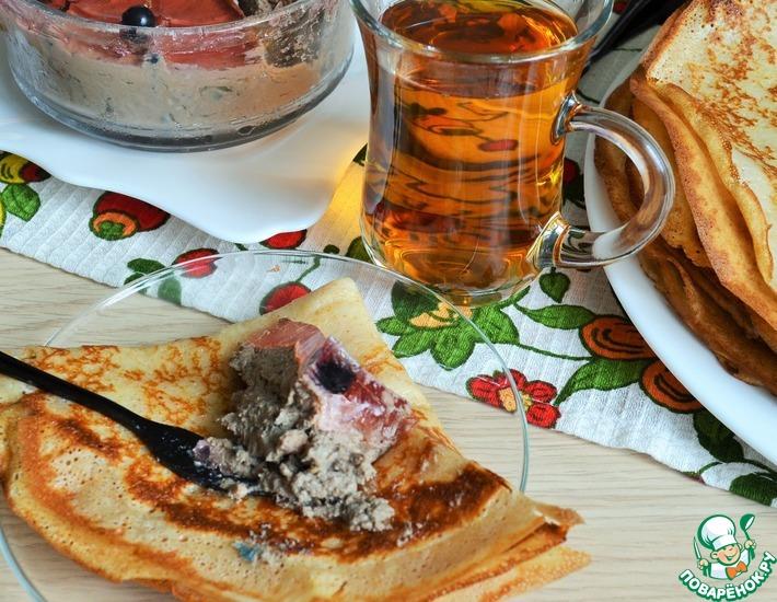 Рецепт: Паштет из печени и баклажанов