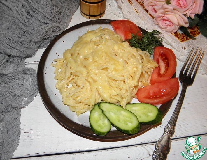 Рецепт: Макароны с яйцом и сыром