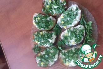 Рецепт: Сливочно-лимонные гренки к борщу