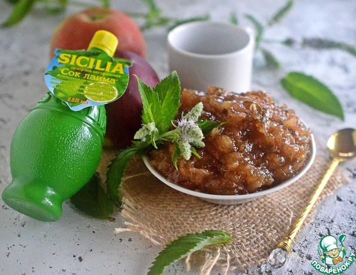 Рецепт: Яблочно-мятный конфитюр