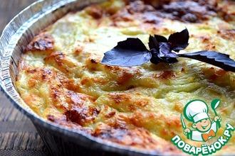 Рецепт: Запеканка из кабачков, курицы и сыра