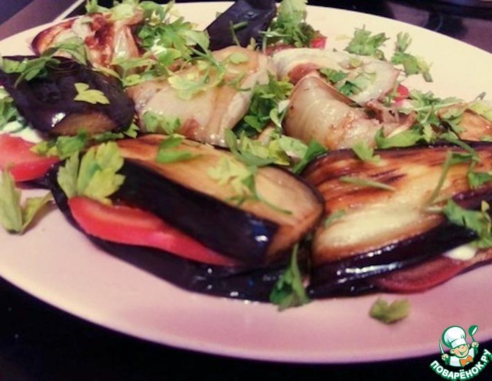 Рецепт: Закуска из баклажанов Тeщин язык