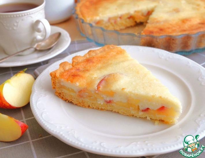 Рецепт: Яблочный песочный пирог
