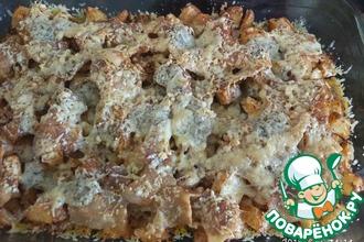 Рецепт: Молодой картофель с беконом и сыром