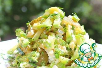 Рецепт: Салат с кабачками Трио