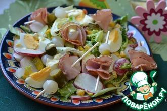Рецепт: Салат с вареным яйцом