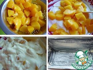 Творожная запеканка с персиками в духовке - 8 пошаговых фото в рецепте