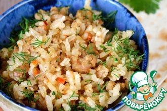 Рецепт: Рис с мясным фаршем