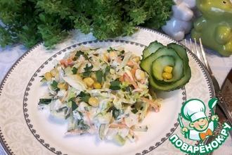 Рецепт: Легкий овощной салат
