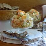 Яичный салат с зелёной редькой