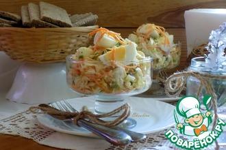 Рецепт: Яичный салат с зелёной редькой