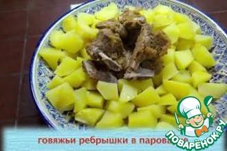 Рецепт: Говяжьи ребрышки в яблочном маринаде