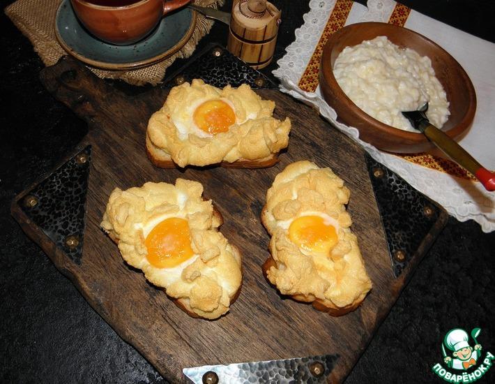 Рецепт: Горячие бутерброды с яйцами Орсини