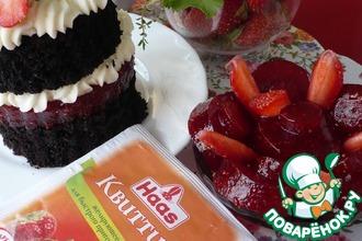 Рецепт: Шоколадные мини-торты Клубника со сливками