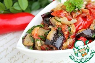 Рецепт: Салат-закуска из баклажанов