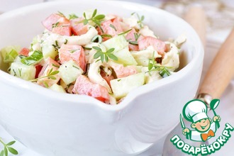 Рецепт: Салат с куриной грудкой и овощами