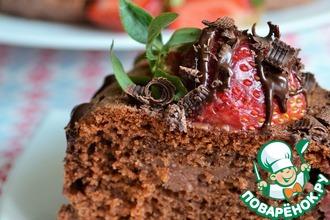 Рецепт: Пирог Клубника в шоколаде