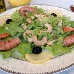 Салат с креветками «Простой»