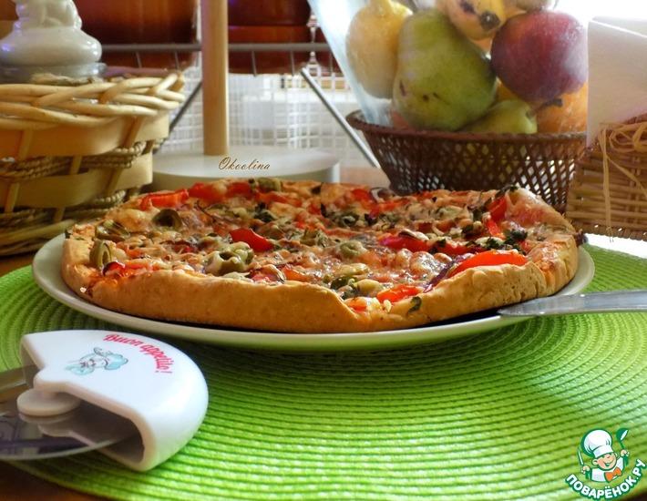 Рецепт: Пицца с соусом-чили и карпаччо