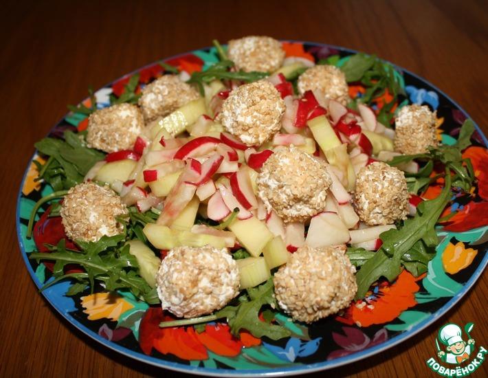 Рецепт: Салат с сырными шариками