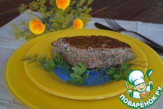 Рецепт: Суфле из печени с кабачком