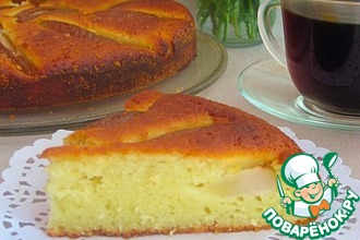 Рецепт: Пирог с грушей и кокосовой стружкой