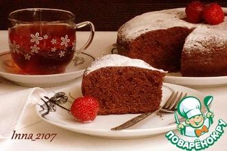 Рецепт: Шоколадный кекс на сгущенке в мультиварке