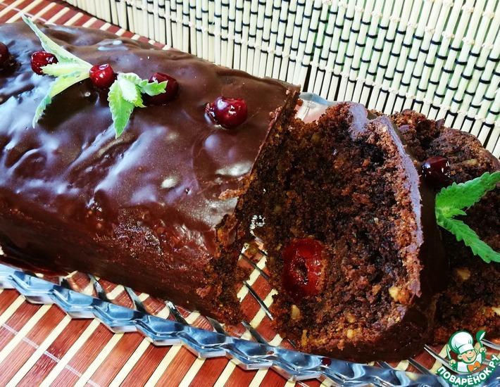 Рецепт: Постный свекольный кекс с вяленой вишней и миндалем