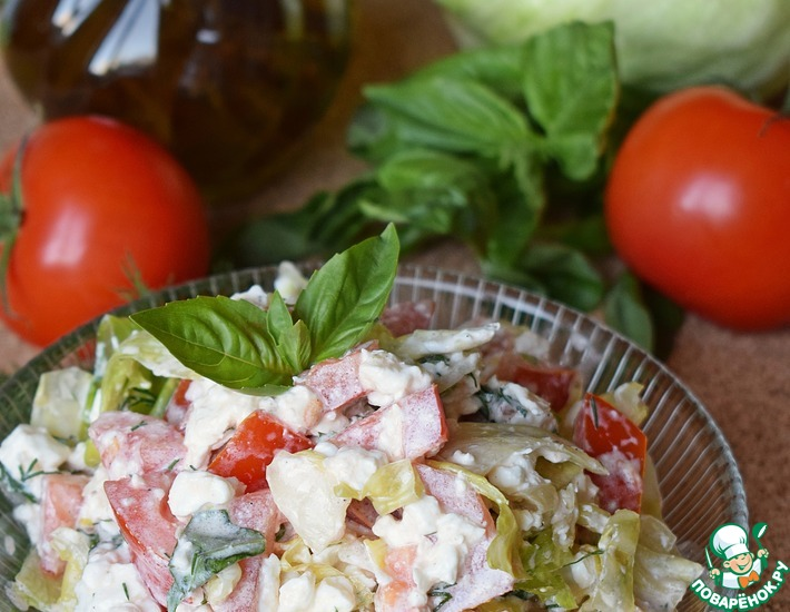 Рецепт: Салат с творогом