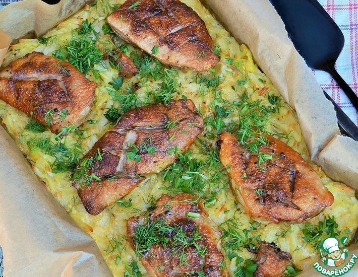 Рецепт: Утиные грудки с картофелем