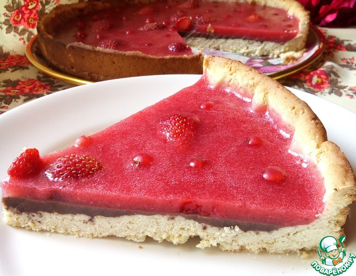 Рецепт: Пирог с желе Ягоды и шоколад