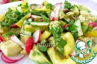 Рецепт: Салат из авокадо с редисом