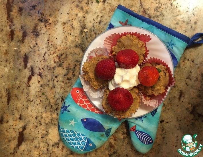 Яблочные кексы с кокосовой мукой