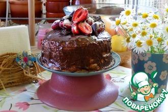 Рецепт: Торт к чаю с сезонными ягодами