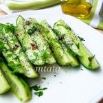 Салат из огурцов с маком