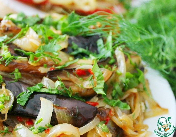 Рецепт: Баклажаны закусочные острые