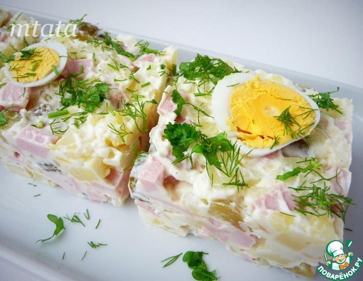 Рецепт: Картофельный салат нарезной