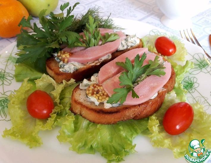 Рецепт: Бутерброды 2 в 1